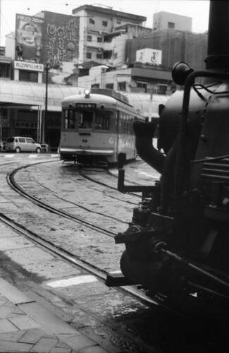 坊っちゃん列車と伊予鉄