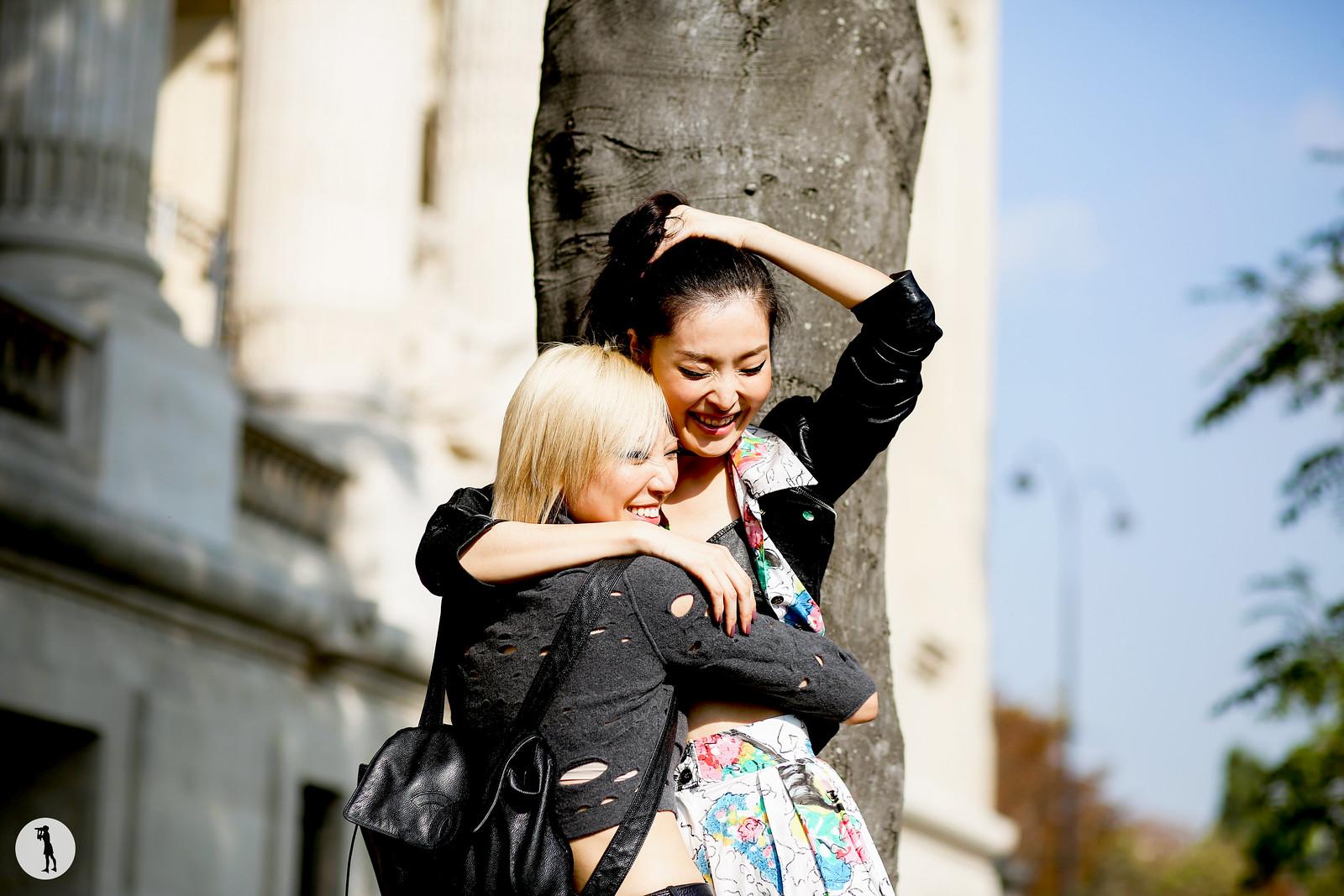 Models Soo Joo and Sunghee Kim - Paris fashion week RDT SS15 (1)