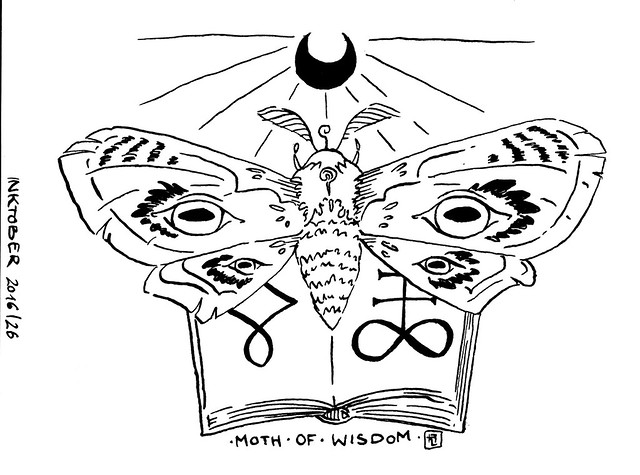 Inktober 2016: Moth of Wisdom / Hedgefairy Tales