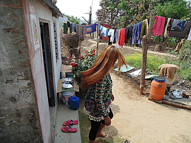 Nepali Village Woman - Beautiful Hair