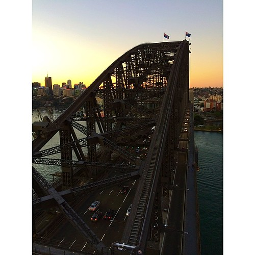 We climbed the Sydney Harbour Bridge today, and @dimill has the video (and I have the sore legs!) to prove it. Amazing! #quiltabout | by croskelley