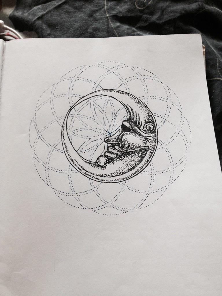 Geometric circles doodle #geometry #dotwork #tattoo #moon … | Flickr