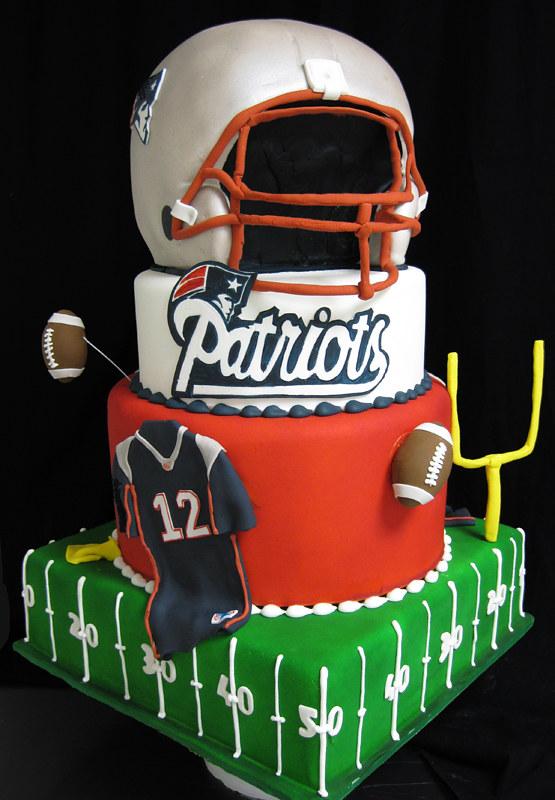 Patriots Cake Fun Football Field Jersey Goal Post Hel Flickr