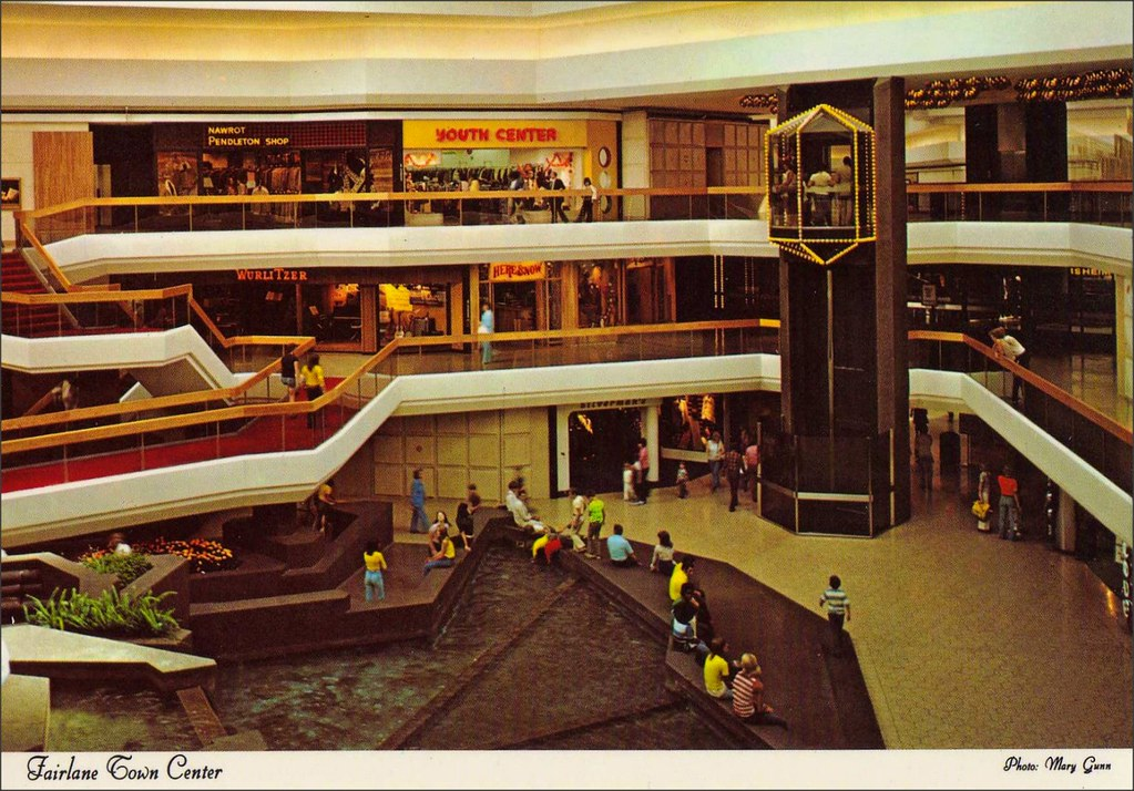 Fairlane Town Center Shopping Mall Dearborn Michigan 1970s