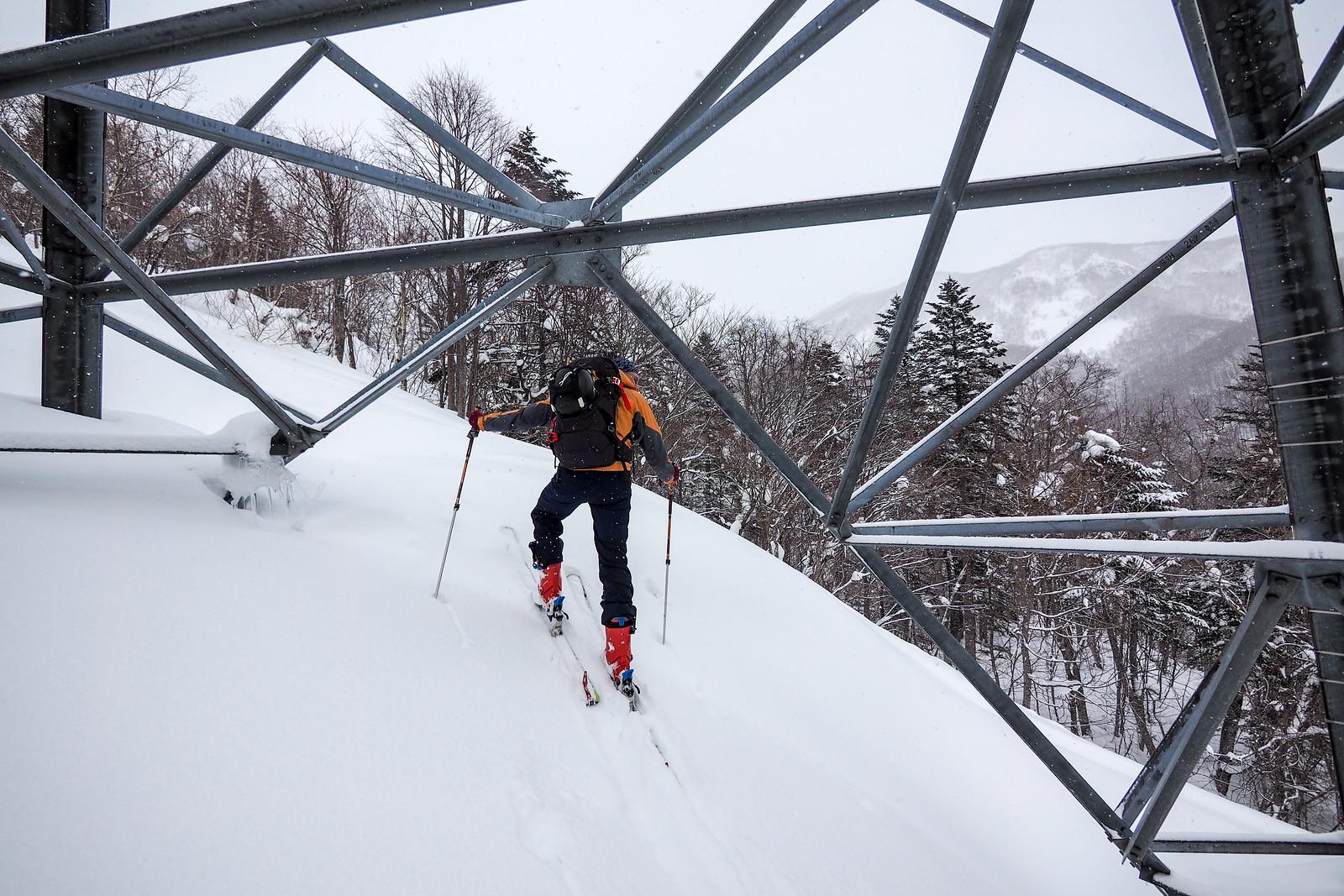 Mt. Mayoizawa ski touring (Sapporo City, Hokkaido, Japan)