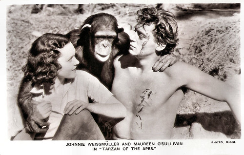 Johnny Weismuller and Maureen O'Sullivan in Tarzan the Ape Man (1932)