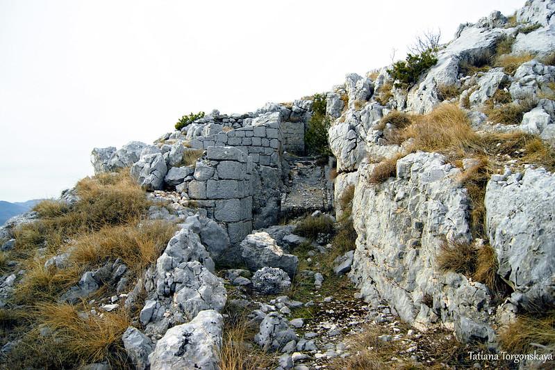 Артиллерийская площадка в горах