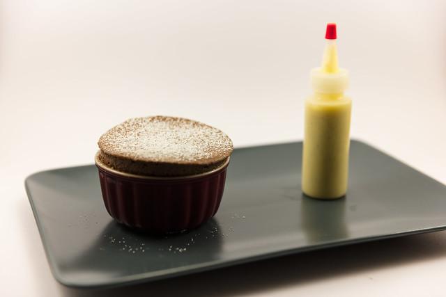 Chocolate Souffle with Creme Anglaise