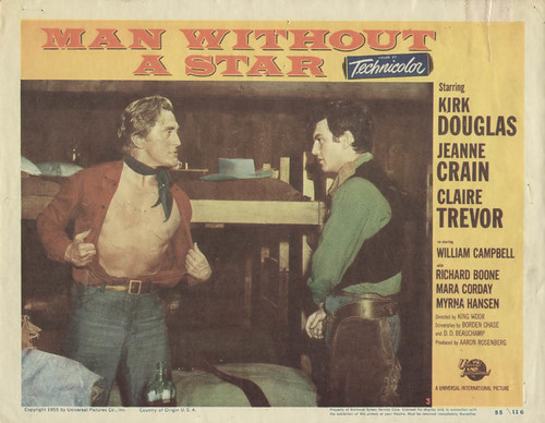 Man Without a Star - lobbycard 1