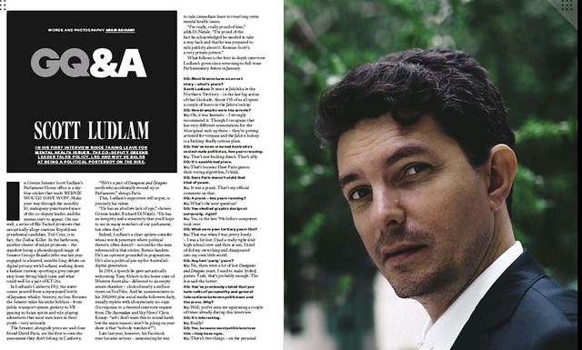 Scott Ludlum in GQ Magazine