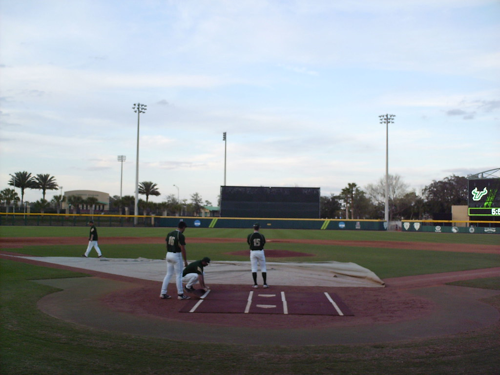 Usf baseball stadium in the ballparks the view from behind home plate at usf baseball stadium malvernweather Gallery