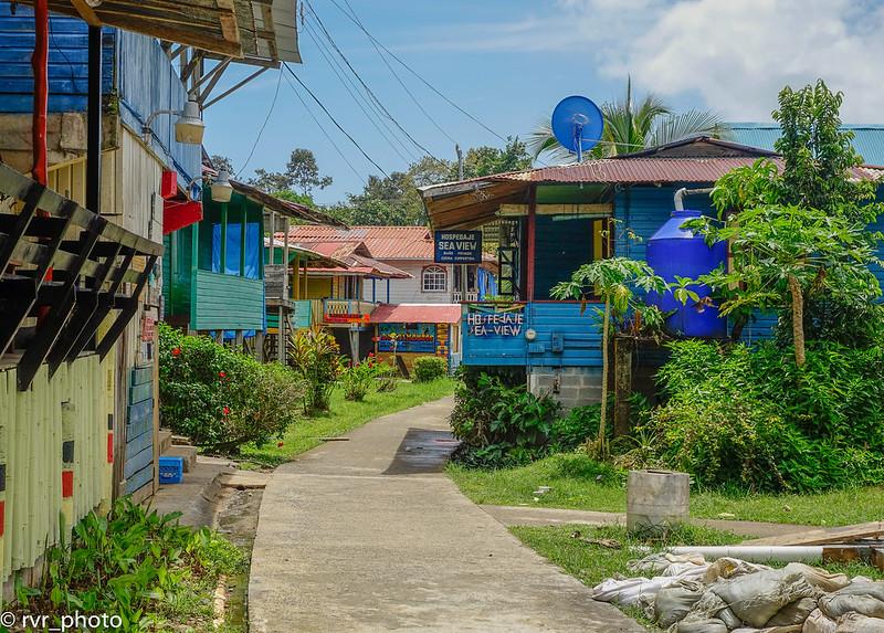 Calle principal Bastimentos, Bocas del Toro