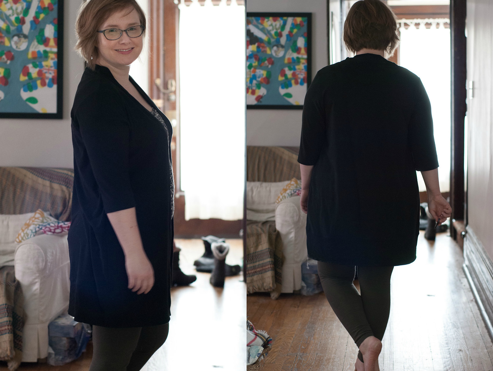 Blackwood Cardigan in Double Brushed Poly