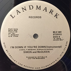 SIMON AND McQUEEN:I'M DOWN IF YOU DOWN(LABEL SIDE-B)