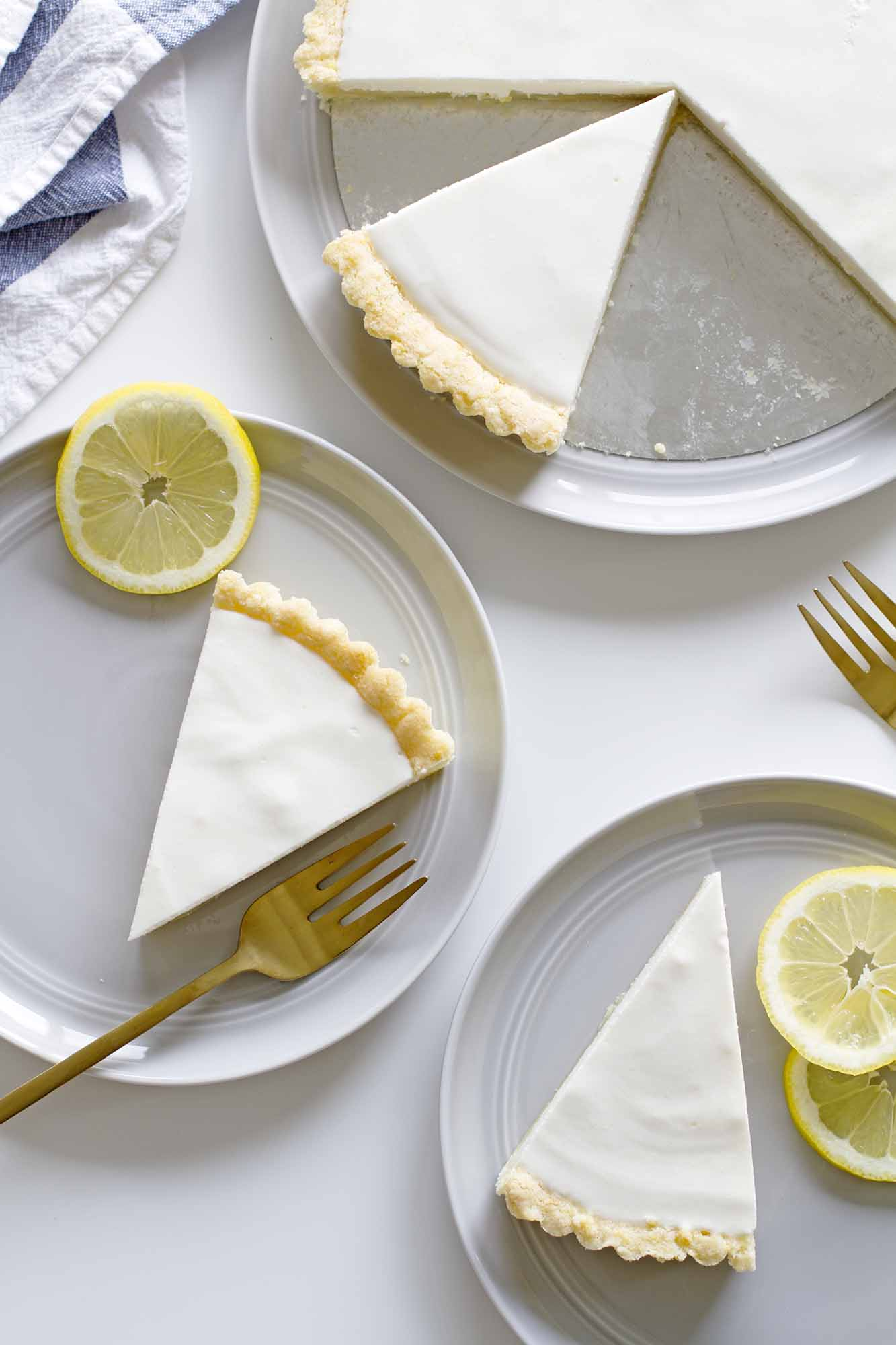 Lemon Buttermilk Sugar Cookie Tart | girlversusdough.com @girlversusdough