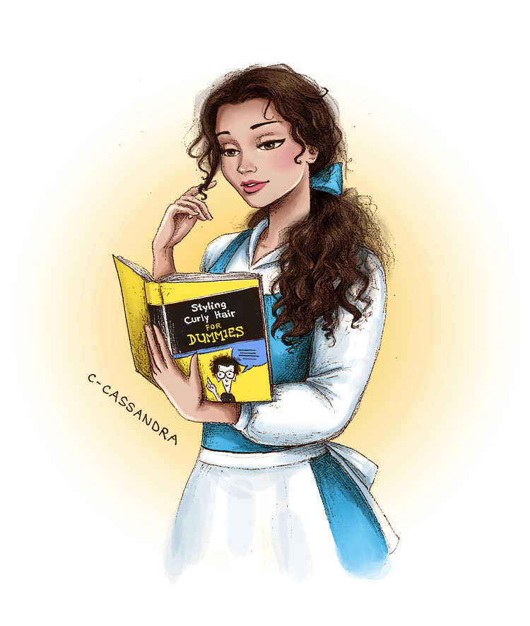 Disney Princesses The hair struggle is real by C. Cassandra - Belle from Beauty and the Beast