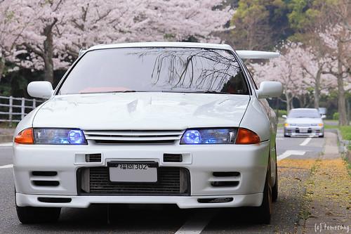 R32GT-R with Sakura