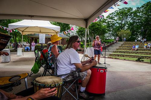 Drumming at the Greer International Festival-004