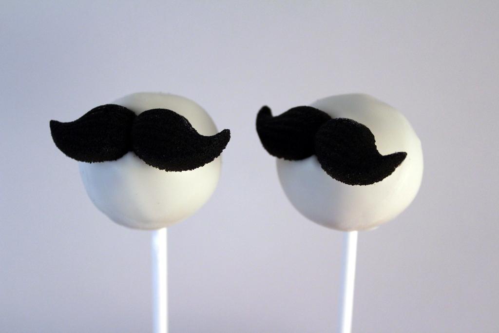 Mustache Cake Pops By Familysweetery