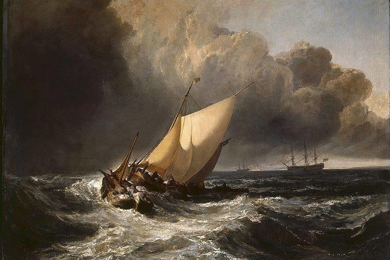 J M W Turner Quot Dutch Boats In A Gale The Bridgewater S
