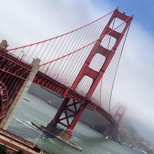golden gate bridge   #red #blue #green #colours #light #sa ...