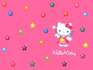 Colorful Hello Kitty Pentagram Hd Wallpaper | by dilip_bagdi2005