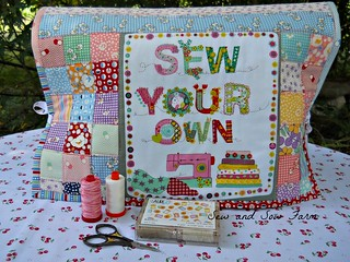 Kimberly's Garden jelly roll sewing machine cover. | by jan@http://sewandsowfarm.blogspot.com/