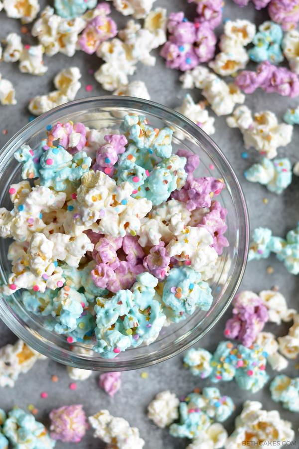unicorn popcorn! - bethcakes.com