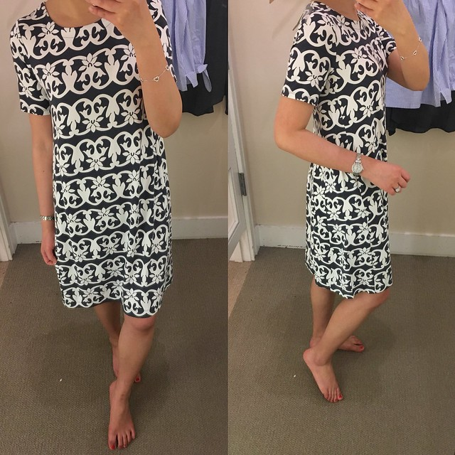 LOFT Vineyard Stripe Swing Dress, size XXSP