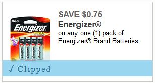 Deal on Energizer Batteries