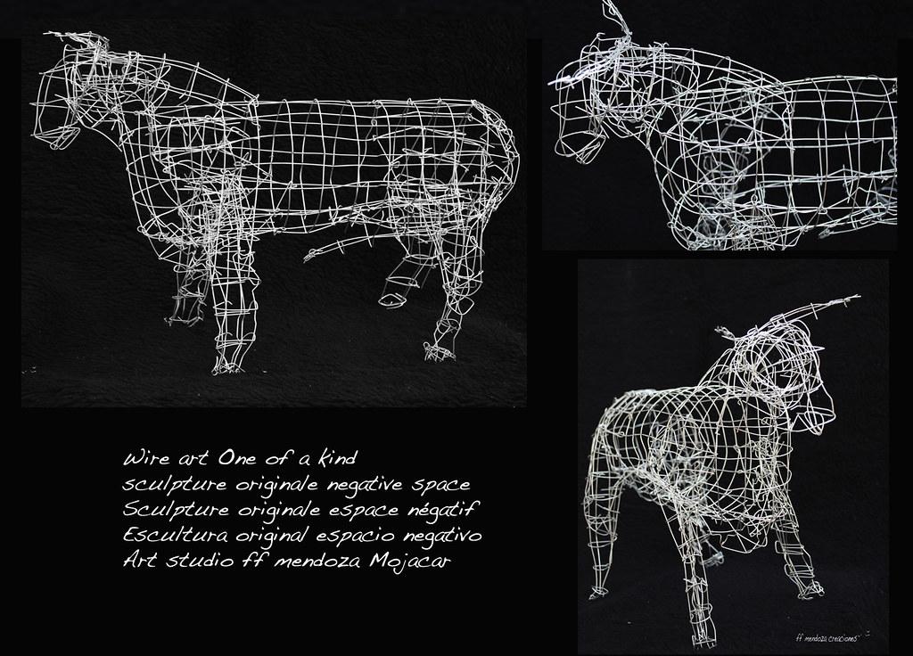 Arte de alambre /esculturas /negative espacio Toro n 1 | Flickr