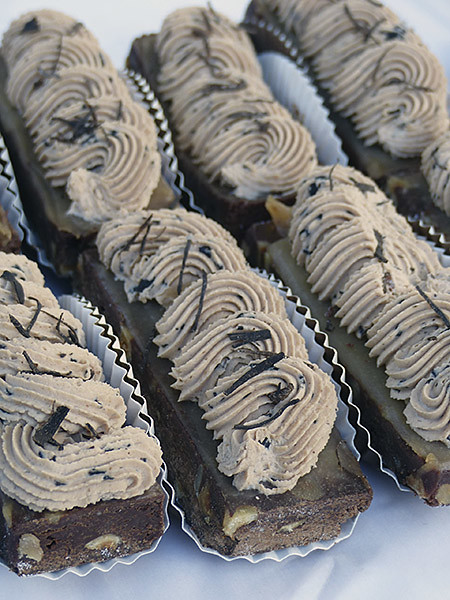 brownies au marron