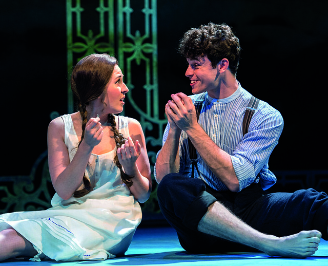 2. HALF A SIXPENCE Devon-Elise Johnson 'Ann' & Charlie Stemp 'Arthur Kipps'. Photo by Manuel Harlan