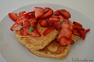 StrawberryBasilPancakes | by katesrecipebox