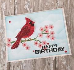 Happy Birthday Cardinal by Carol'sCreations