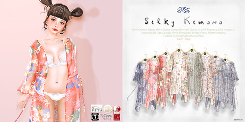 Silky Kimono 50%off @ Re:Japonica | by MENI from ASO! & Soothe.