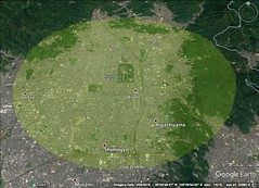 Kyoto 10 kilometer diameter
