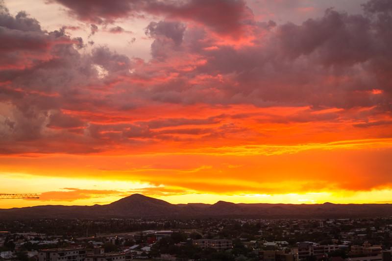 Sonnenuntergang Windhoek