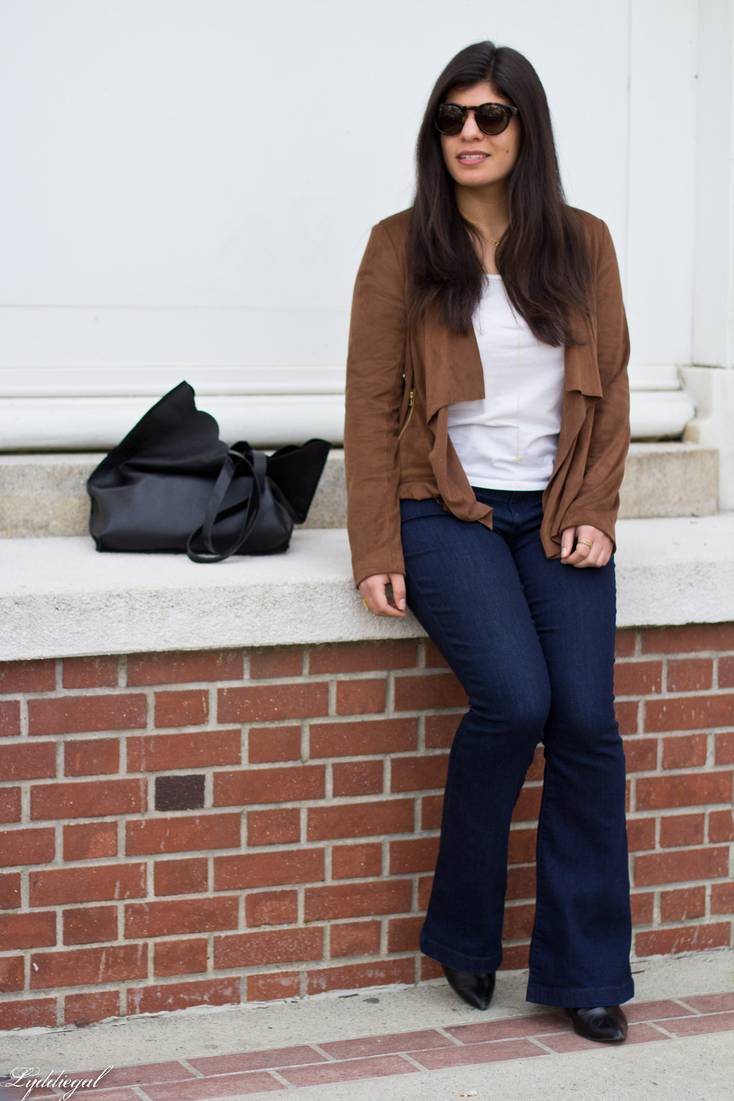 Draped suede jacket, flared jeans, matine tilly tote-3.jpg