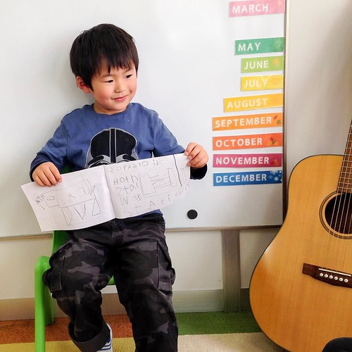 Making books and telling stories at Star Kids International Preschool, Tokyo. #starkids #international #preschool #school #children #baby #toddler #kids #kinder #kindergarten #daycare #fun #shibakoen #minatoku #tokyo #japan #instakids #instagood #twitter | by Star Kids International Preschool