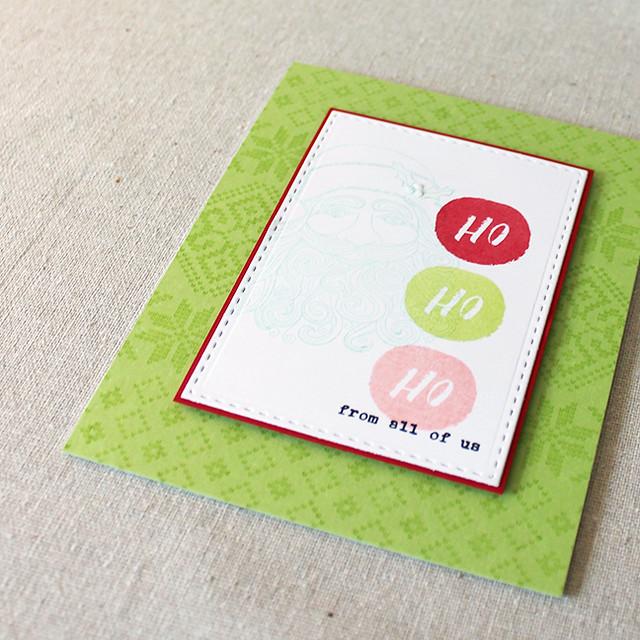 Ho Ho Ho Card Flat