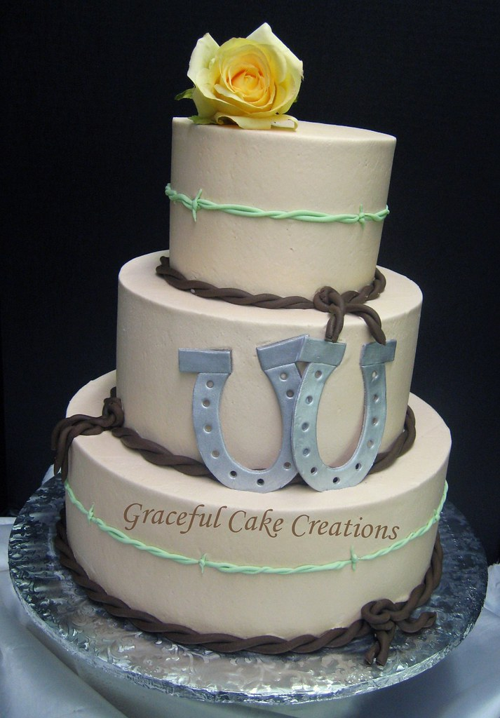 Western Themed Wedding Cake Grace Tari Flickr