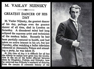 8th April 1950 - Death of Vaslav Nijinsky | by Bradford Timeline