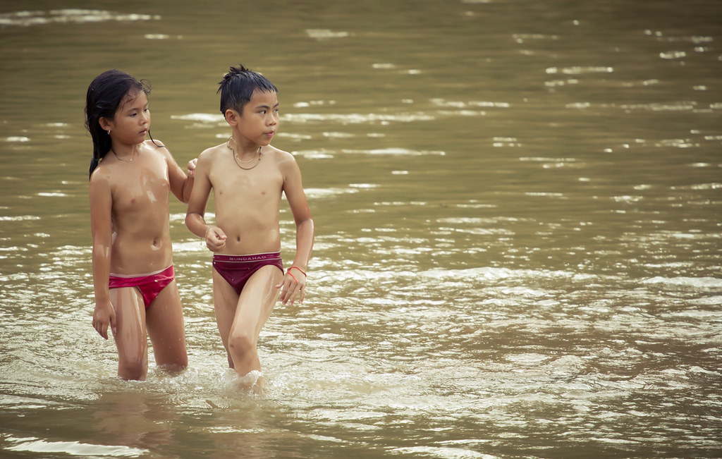 Thai Girls Bathing Rivers-1965
