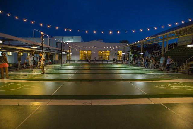 St petersburg shuffleboard court