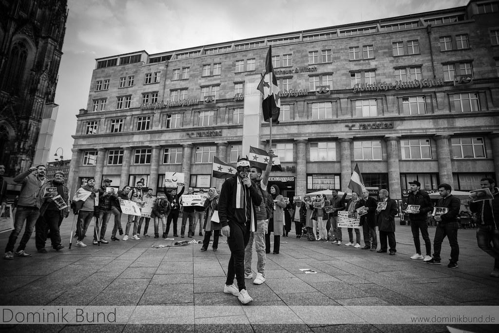 07.04.2017 Köln. - Kundgebung: Stoppt das Töten durch chemische Waffen in Syrien.