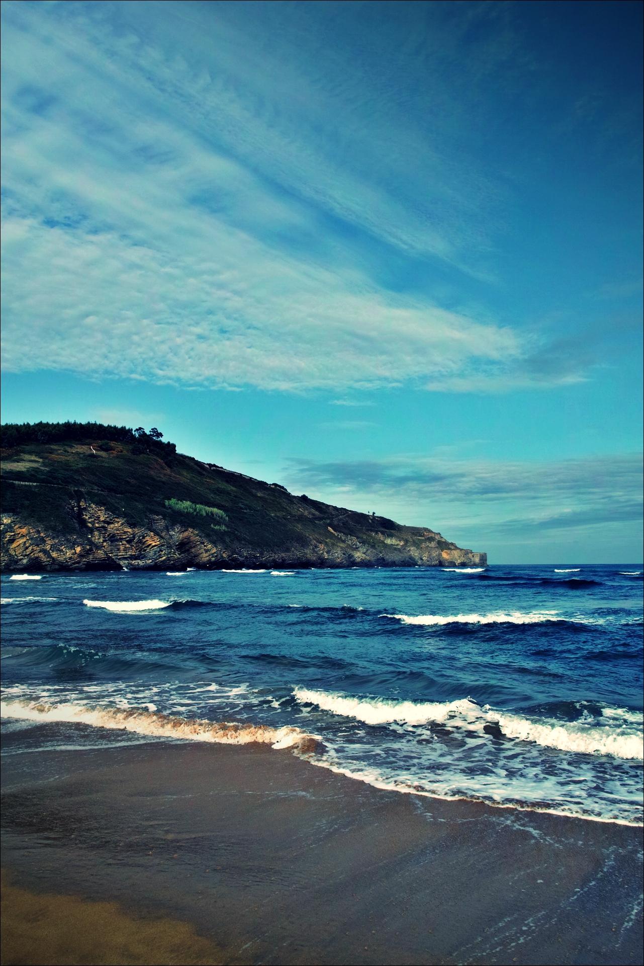 파도-'카미노 데 산티아고 북쪽길. 포르투갈레테에서 카스트로 우르디알레스. (Camino del Norte - Portugalete to Castro Urdiales) '