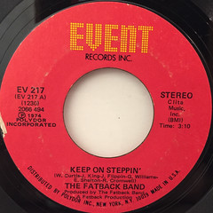 THE FATBACK BAND:KEEP ON STEPPIN'(LABEL SIDE-A)