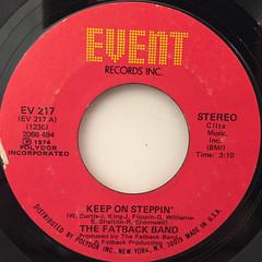 THE FATBACK BAND:KEEP ON STEPPIN'(LABEL SIDE-A)
