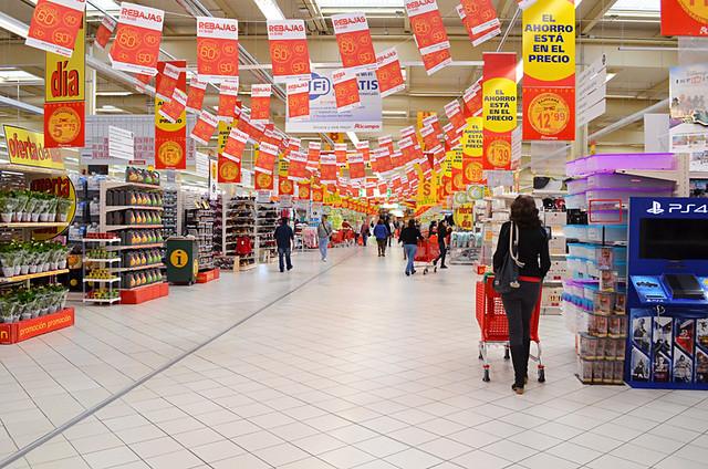 Supermarket shopping, La Orotava, Tenerife